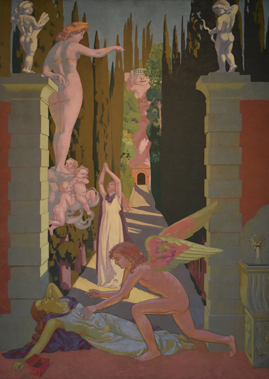 """Panel 4: """"The Vengeance of Venus,"""" 1907, oil on canvas, Ivan Morozov Collection, State Hermitage Museum. St. Petersburg"""