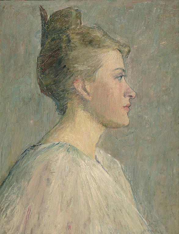 A Profile, c. 1895, oil on canvas, 21 x 16 inches, by Mary Rogers Williams (1857-1907), private collection