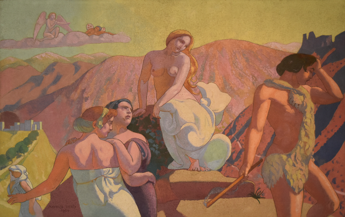 """The Story of Psyche, Panel 6: """"Psyche's Kin Bid Her Farewell on a Mountain Top,"""" 1907, oil on canvas, Ivan Morozov Collection, State Hermitage Museum. St. Petersburg"""