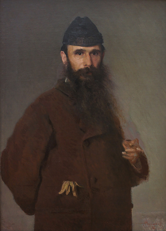 """Portrait of A. D. Litovchenko,"" 1878, oil on canvas, Tretyakov Gallery, Moscow."