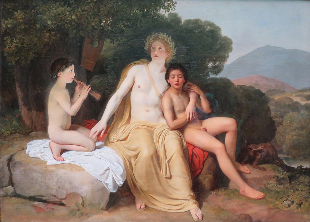 Apollo, Hyacinthus and Cyparis singing and playing, 1831-1834