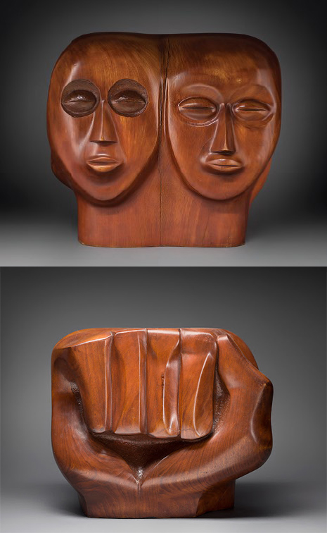 Black Unity (Front and Back) By Elizabeth Catlett