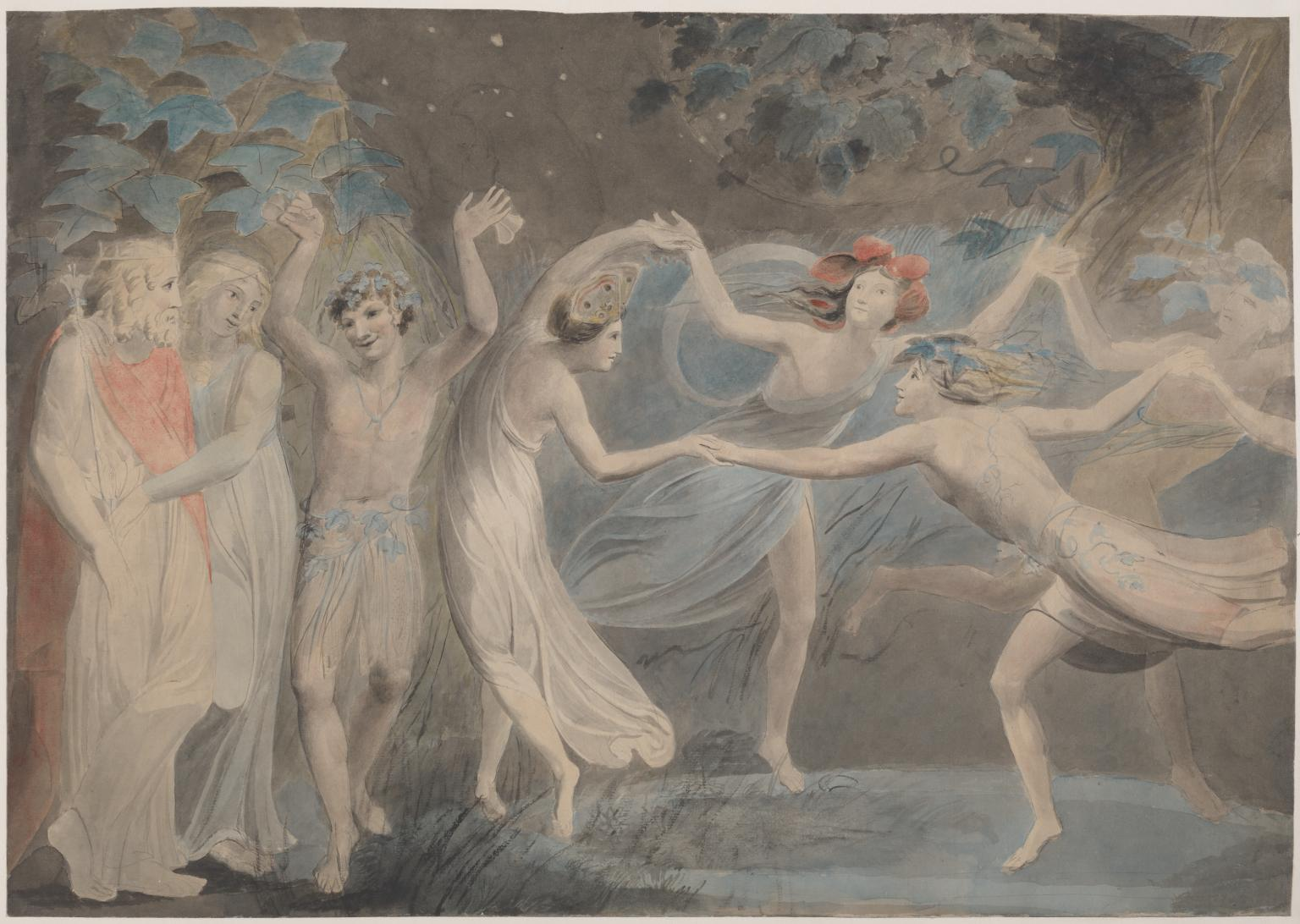 """Titania, Oberon and Puck,"" by William Blake, 1786, Collection of the Tate in London"