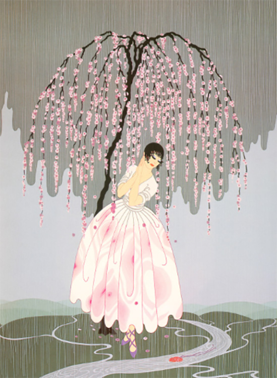 """Blossom Umbrella"" by Erte"