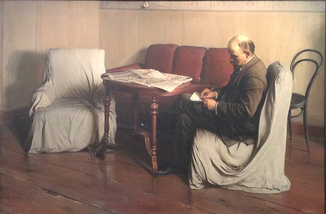 "Isaak Brodsky, ""Lenin in the Smolny,"" 1930, oil on canvas"