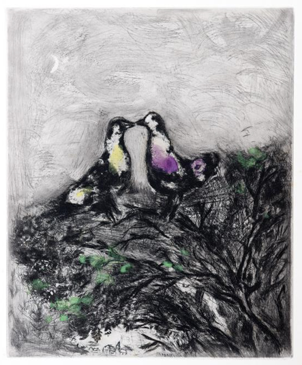 """Marc Chagall, """"The Two Pigeons,"""" 1952"""