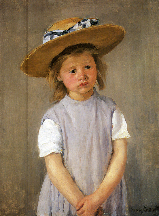 Mary Cassatt, Child in Straw Hat,