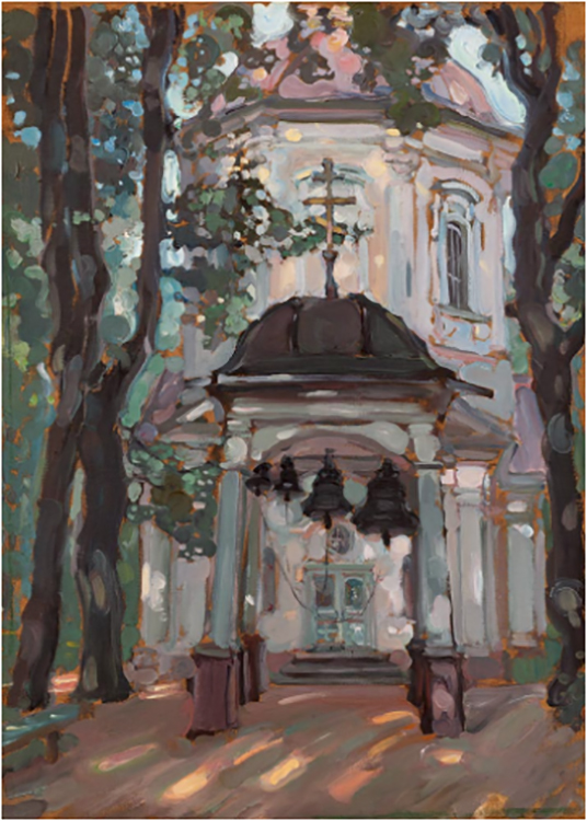 Church at an Old Estate. Cheryomushki near Moscow. 1897 Oil on canvas. 64.4 × 46 cm © Tretyakov Gallery