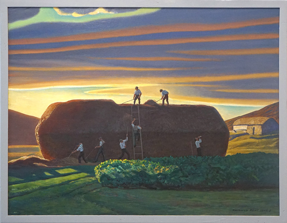 """Dan-Ward's Stack. Ireland"" (1926-1927) by Rockwell Kent, oil on canvas, 86 x 112 cm., Hermitage State Museum, St. Petersburg, Russia"
