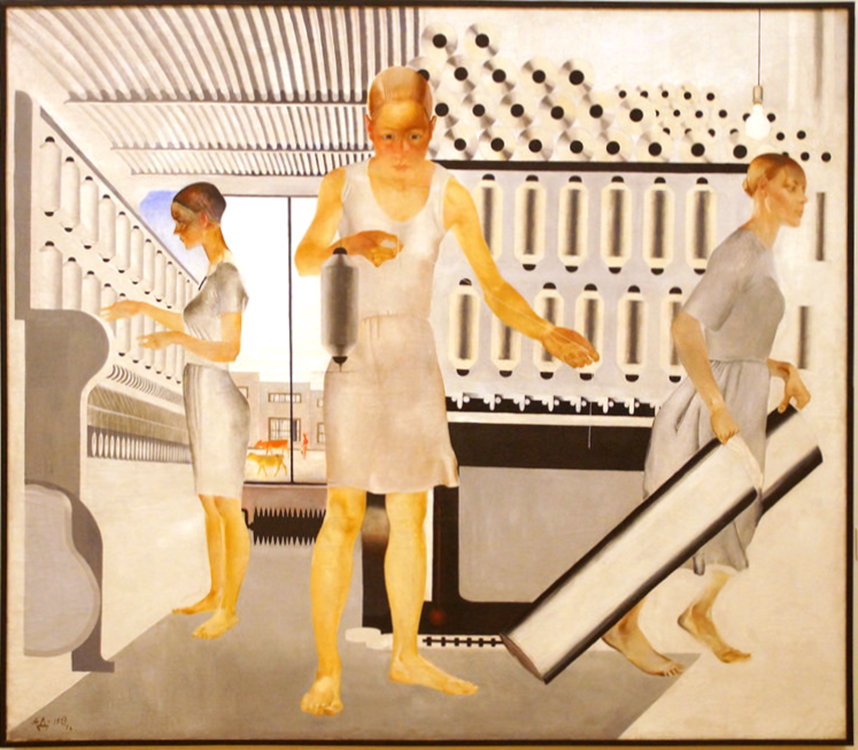 Alexander Deineka, Textile Workers, 1927, oil on canvas