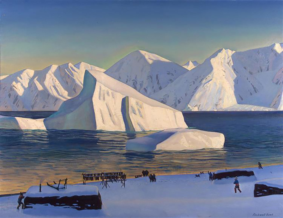 """Early November, North Greenland"" (1933) Rockwell Kent, 86 x 112 cm, Hermitage State Museum, St. Petersburg, Russia"