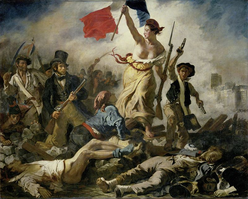 """Liberty Leading the People,"" by Eugène Delacroix, 1830, Collection of the Louvre in Paris"