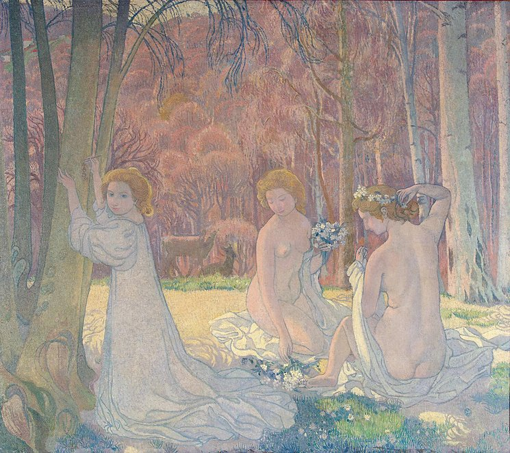 """""""Figures in a Spring Landscape,"""" 1897, oil on canvas, Sergei Shchukin Collection, Pushkin Museum of Fine Art, Moscow"""