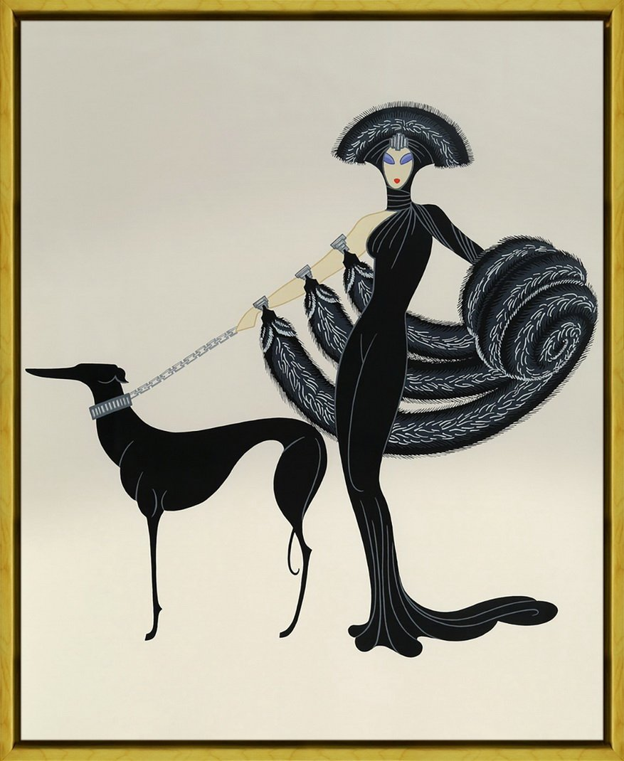 Framed Erte Giclee Canvas Print Paintings Poster Reproduction