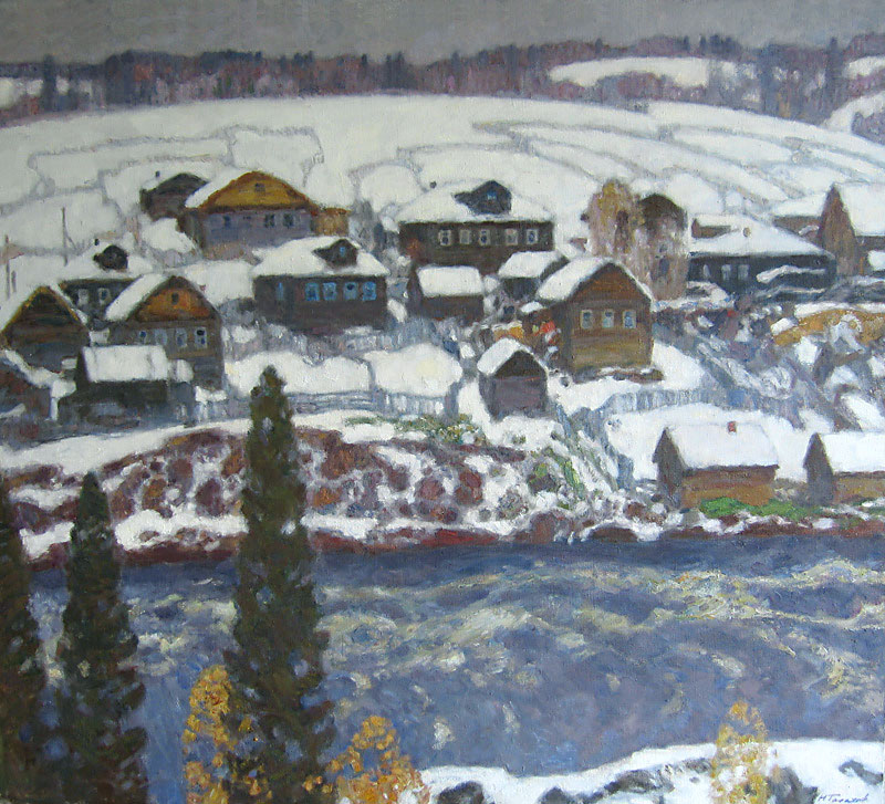 First snow in the Umba village