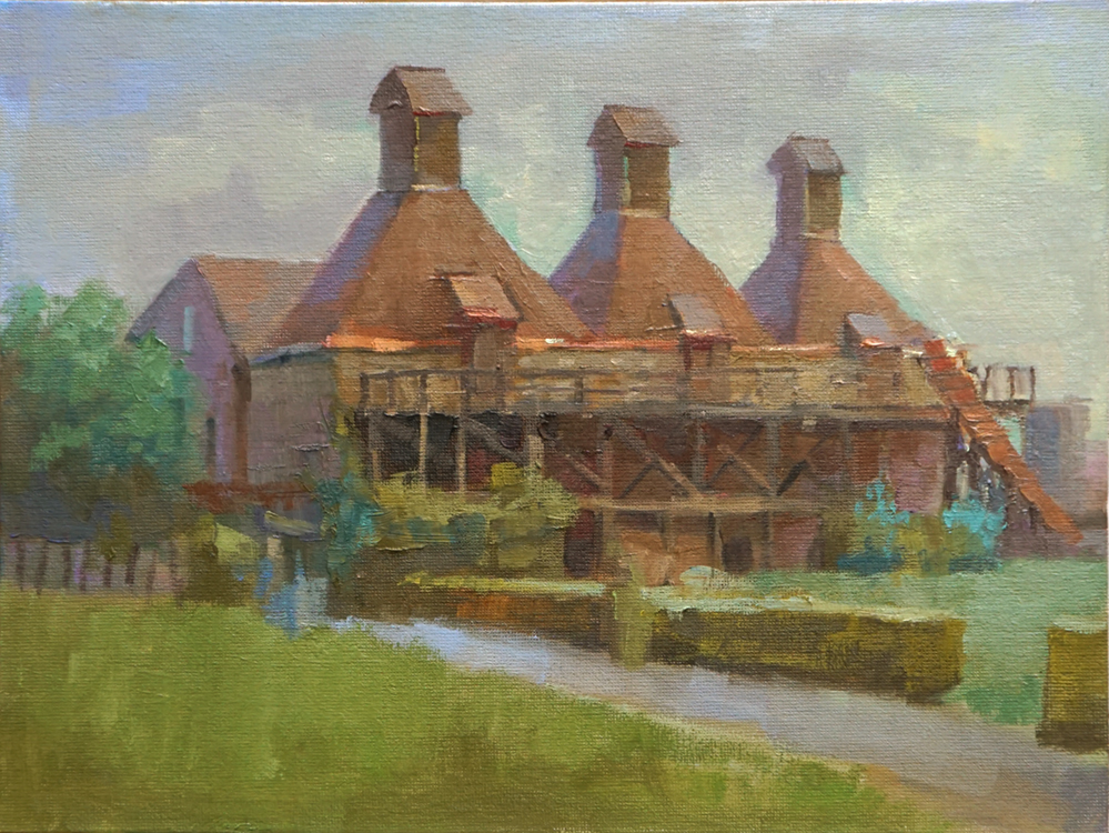 oil painting of Hopkiln Winery, Healdsburg, CA