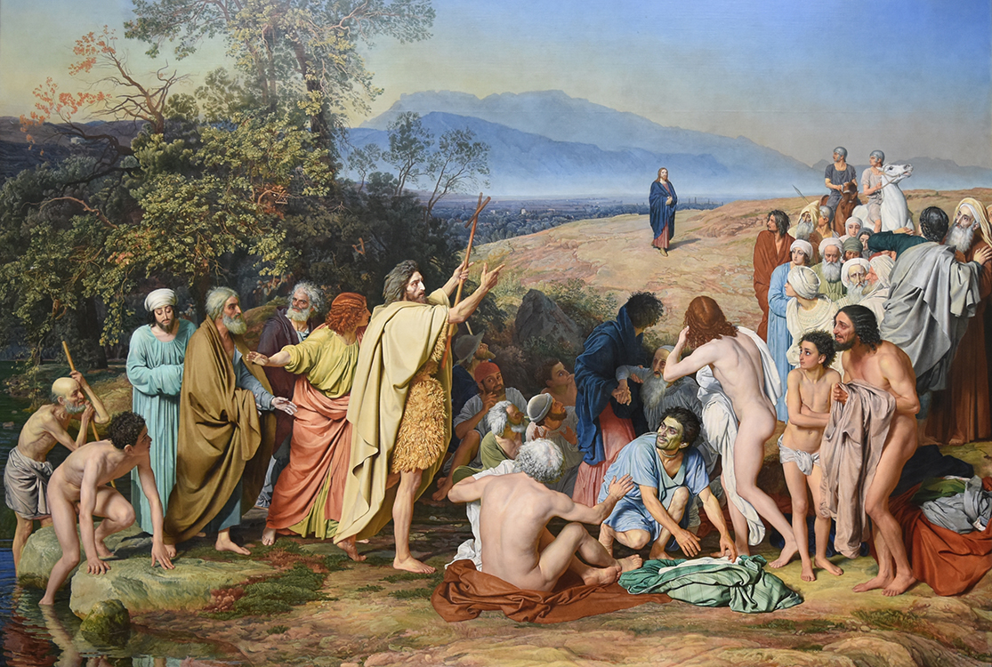 """Alexander Ivanov, """"The Appearance of Christ Before the People"""" (1837–1857), oil on canvas,  17'6"""" x 25', Tretyakov Gallery, Moscow"""