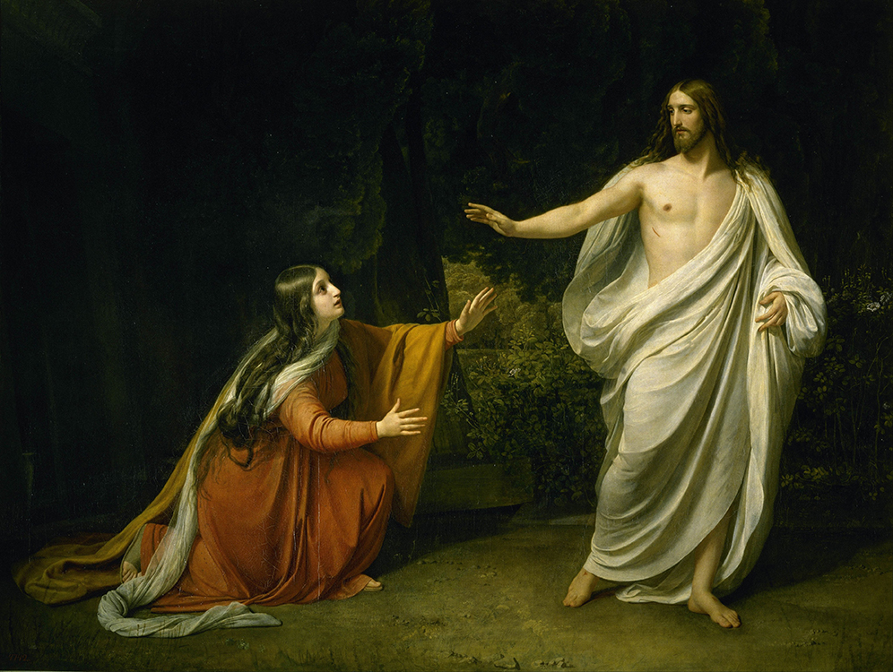 """Alexander Ivanov, """"The Appearance of Christ to Mary Magdalene"""" (1834-1835), oil on canvas,  7'11.25"""" x 10.5', Russian Museum, St. Petersburg"""