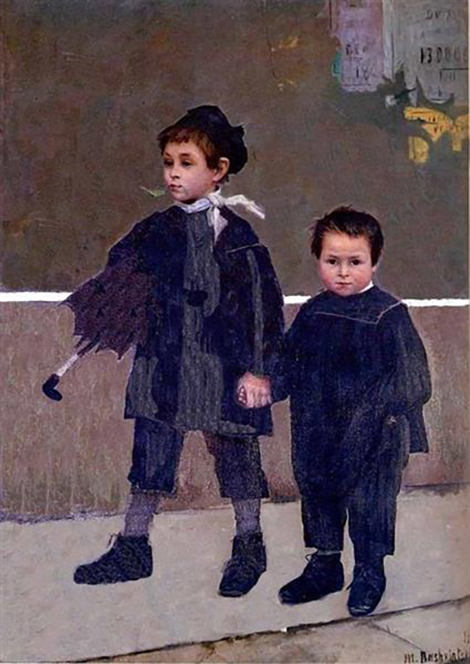 """Marie Bashkirtseff, """"Jean and Jacques"""" (1883) oil on canvas"""