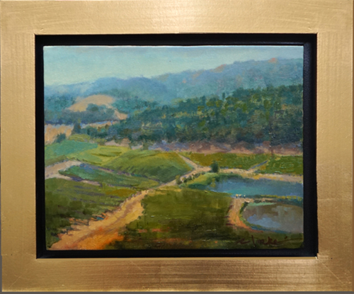 oil painting of kunde winery, napa, CA