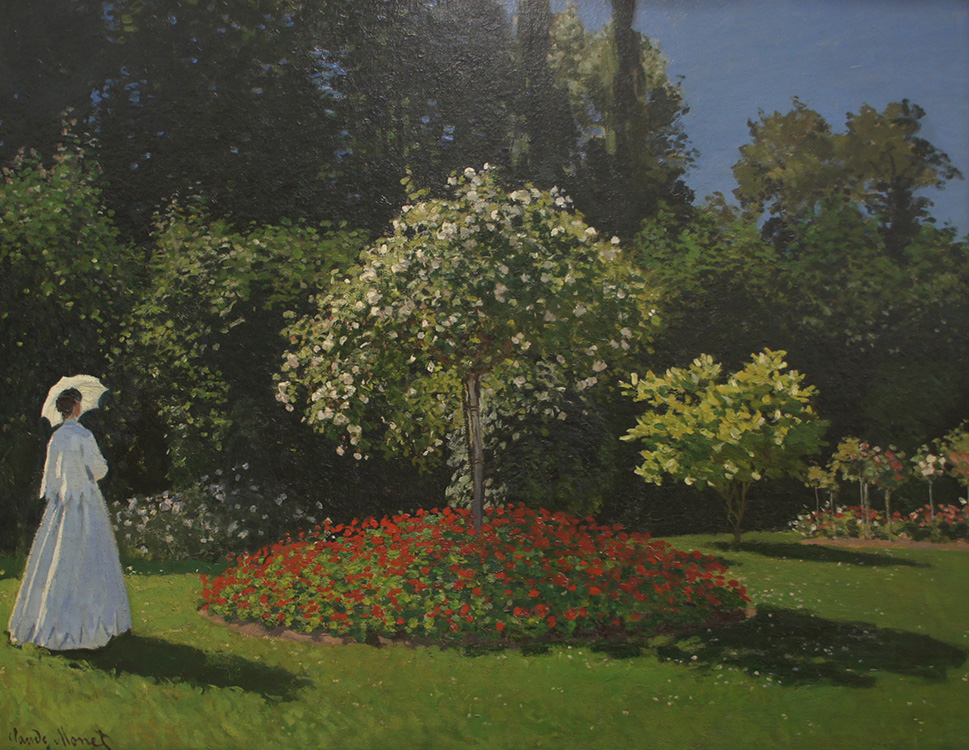 "Claude Monet, ""Lady in the Garden,"" 1867, Sergei Shchukin Collection"
