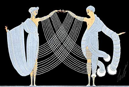 """Le Mystere Des Pierreries"" BIG Art Deco Print Erte"