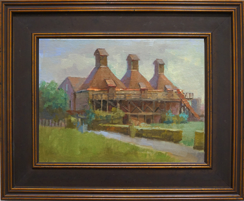 oil painting of HopKiln winery, Sonoma County, CA