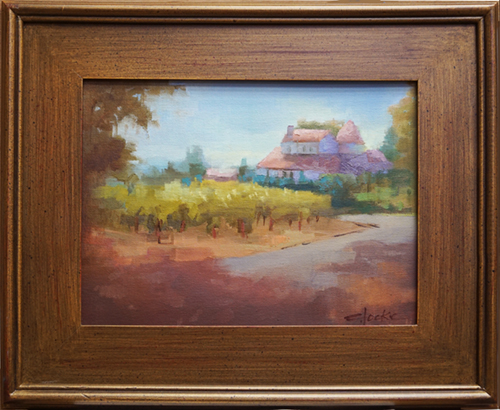 oil painting of Rose House, Healdsburg, CA