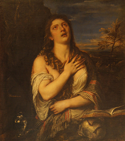 prints of Titian paintings at the Hermitage Museum