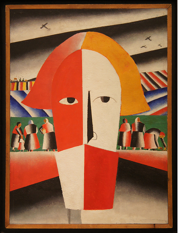 "Kazimir Malevich, ""Head of a Peasant,"" 1928-1929, oil on canvas"