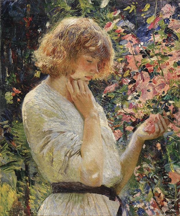 """Laura Knight, """"Marsh Mallows"""" (ca. 1914), oil on canvas, 30.25"""" x 25.25"""", private collection, Catalogue Note Sotheby's"""