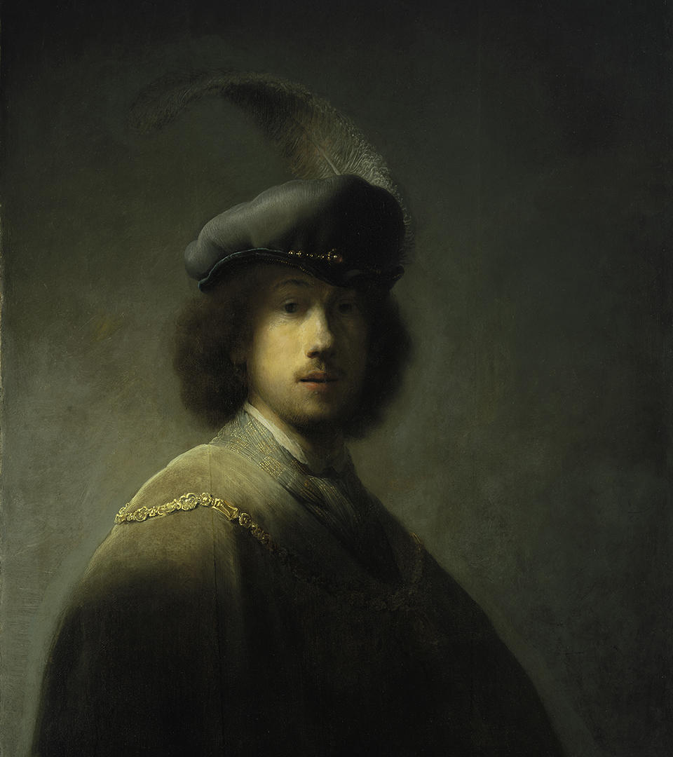 "Rembrandt van Rijn, ""Self-Portrait – Age 23,"" (1629), oil on oak panel"