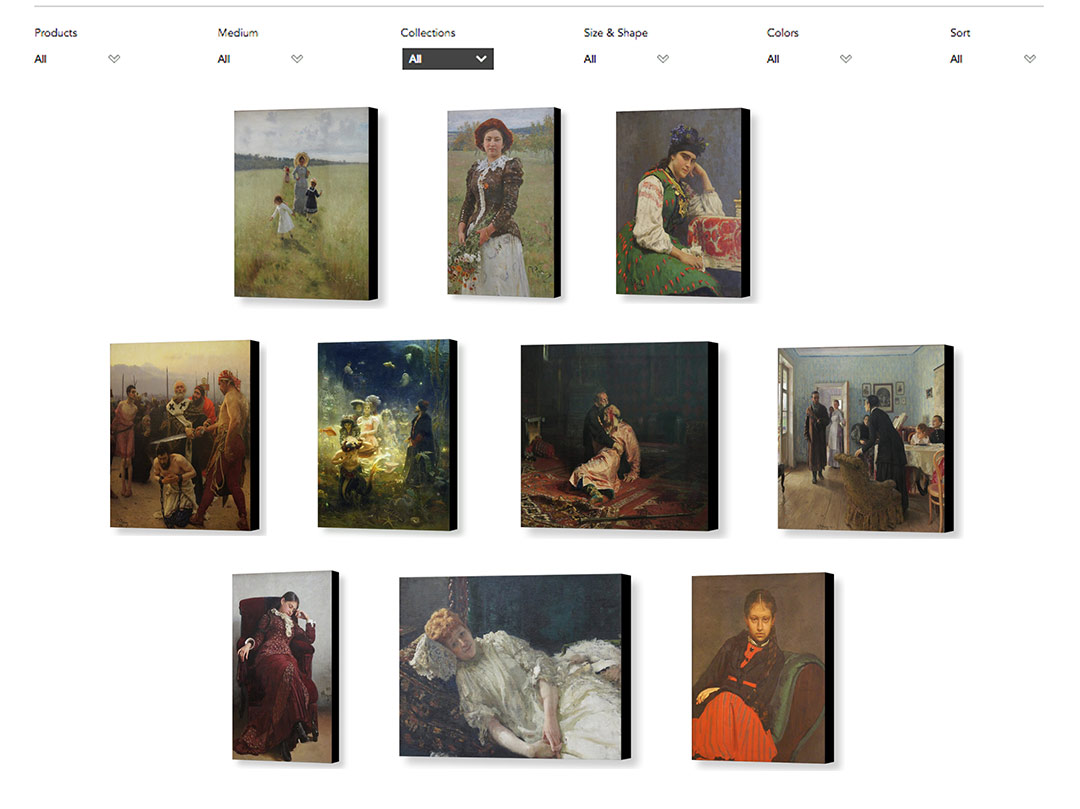 Prints of Ilya Repin's work