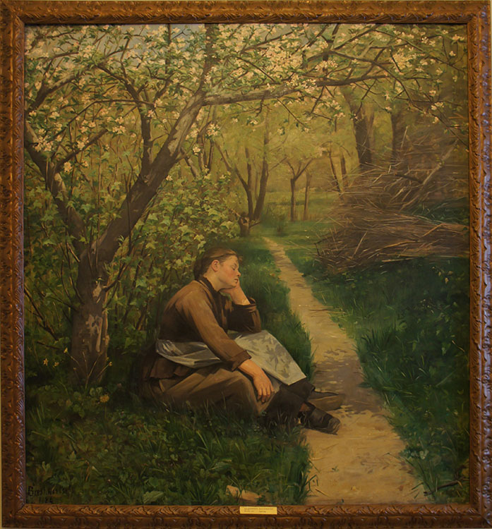 """Spring,"" 1884, oil on canvas, Russian Museum, St. Petersburg, Russia"