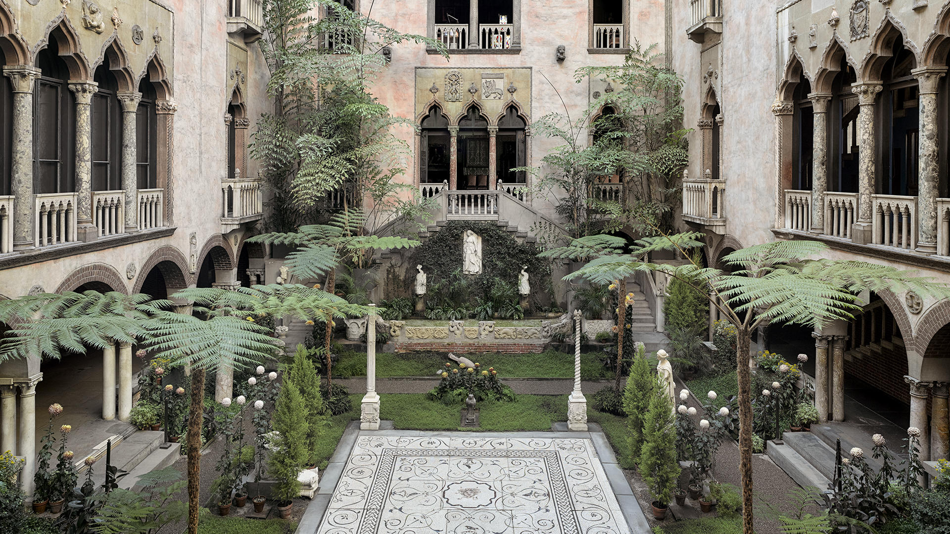 Courtyard of the Isabella Stewart Gardner Museum