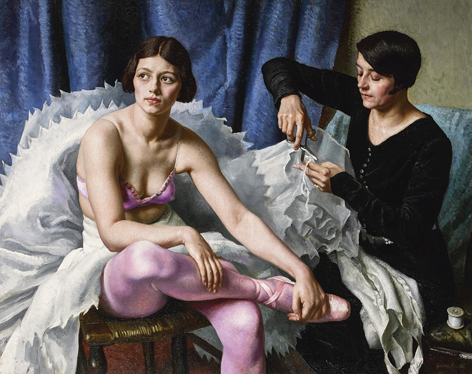 """Laura Knight, """"The Ballet Girl and the Dressmaker"""" (1930), oil on canvas, 38"""" x 48"""", private collection, © photo Sotheby's"""