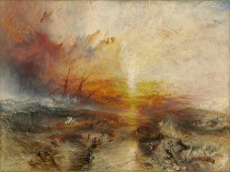 """""""The Slave Ship,"""" by J. M. W. Turner, 1840, Collection of the Museum of Fine Arts, Boston"""