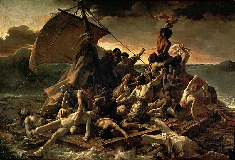 """The Raft of The Medusa,"" by Théodore Géricault, 1818-19, Collection of the Louvre in Paris"