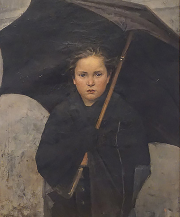 """The Umbrella"", 1883, oil on canvas, Russian Museum, St. Petersburg, Russia"