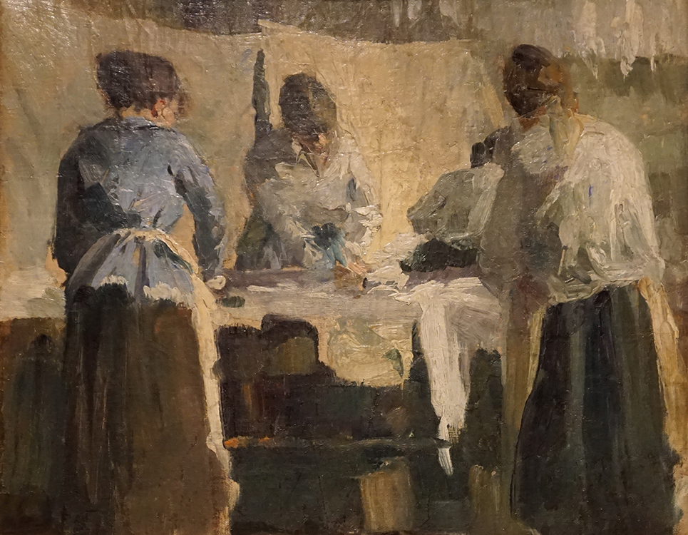 "Torsten Wasastjerna, ""French Women Ironing"" (1889) oil on canvas, purchased 1925"