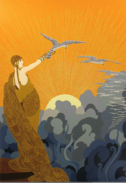 """Wings of Victory"" by Erte"