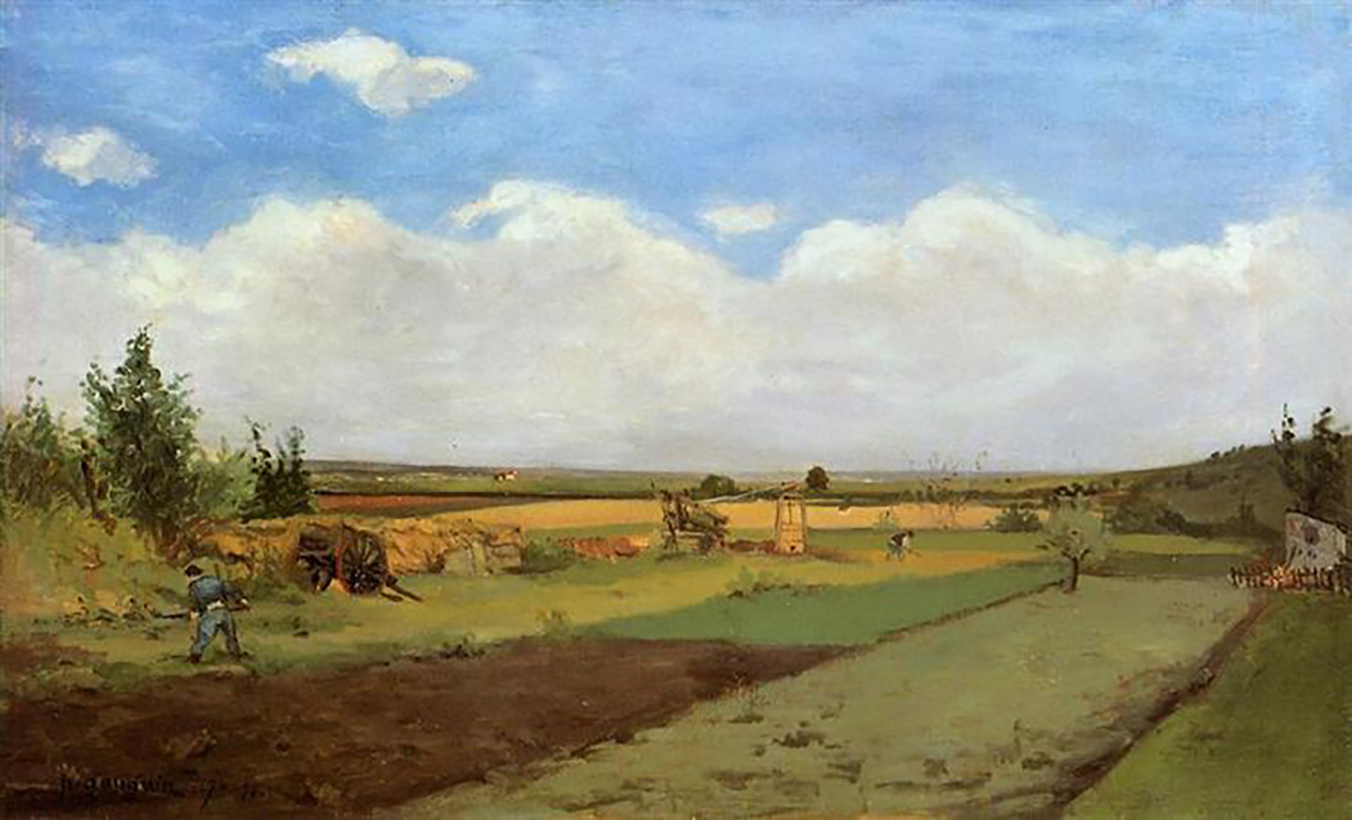 """Working the Land,"" (1873), oil on canvas, Fitzwilliam Museum (University of Cambridge), Cambridge, United Kingdom"