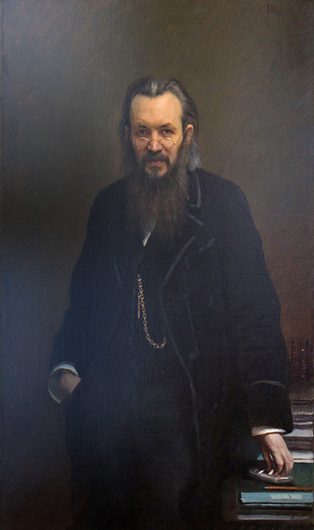 """Portrait of the Writer and Publicist Alexi Suvorin,"" 1887, oil on canvas, Russian Museum, St. Petersburg."