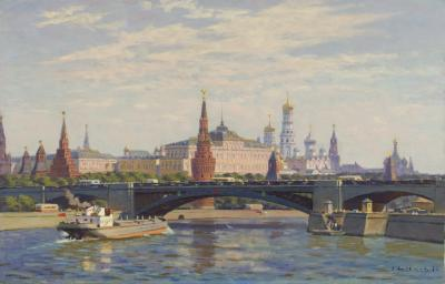 On the Moscow River near Kremlin
