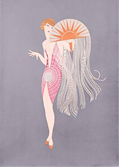 Erte, Flapper Limited Edition Print for sale