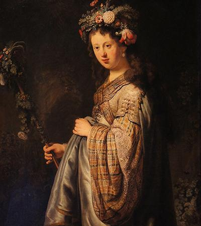 """Flora,"" 1634, oil on canvas, collection of the State Hermitage Museum"