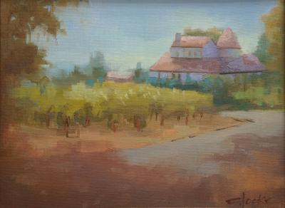 oil painting of Rose House in Healdsburg, CA