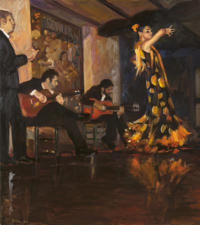 original oil painting of dancers