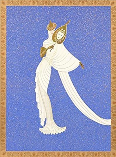 Erte, Tanagra Blue Limited Edition Print for sale