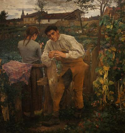 """Village Lovers"" (""L'Amour au Village""), 1882, oil on canvas, Pushkin Museum of Fine Art"